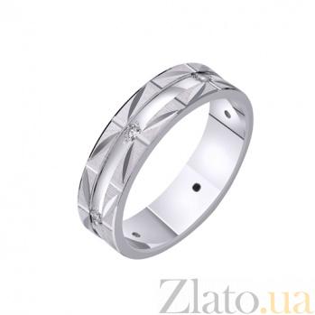 Золотое обручальное кольцо Сказочное чувство с фианитами TRF--422200