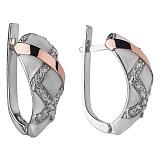 Серебряные серьги с эмалью Эстель