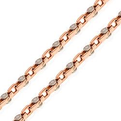 Золотая цепь Милан в стиле Фибо 000068440