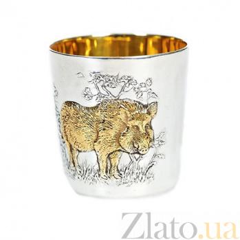 Серебряный стакан Свинья 462