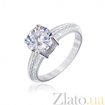 Серебряное кольцо с фианитами Кларис 000028074