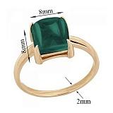 Кольцо в красном золоте Ингрид с синтезированным зеленым кварцем