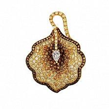 Золотая подвеска с фианитами Калла