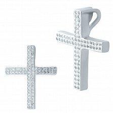 Серебряный крестик Консепта с фианитами