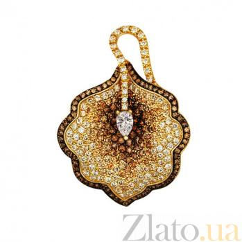 Золотая подвеска с фианитами Калла VLT--ТТ3373-1