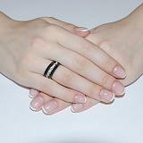 Кольцо из керамики и серебра Алия