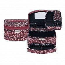 Красная шкатулка для украшений WindRose Panthera с животным принтом и дорожным отделением