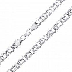 Серебряная цепочка в плетении бисмарк 000123158