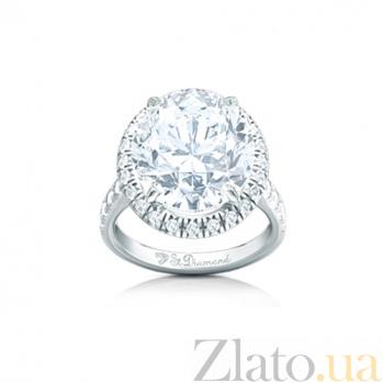 Золотое кольцо с топазом и бриллиантами Дюймовочка 000029696