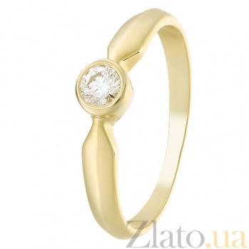 Кольцо из желтого золота с бриллиантом Miriam R 0560