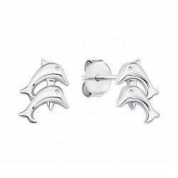 Серебряные серьги-пуссеты 000133758
