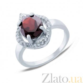 Серебряное кольцо с гранатом Страсть AQA--R00520G