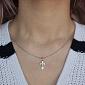 Крестик из серебра Благодать с родиевым покрытием HUF--311089-Р ис