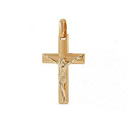 Золотой крестик Милость Господня в комбинированном цвете металла