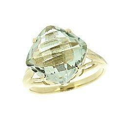 Золотое кольцо в жёлтом цвете с празиолитом 000021227