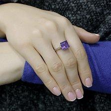 Серебряное кольцо Гвенделин с нано аметистом