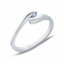 Серебряное кольцо с фианитом Избранная