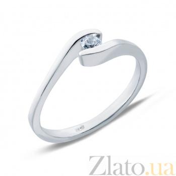 Серебряное кольцо с фианитом Избранная AQA--71018б