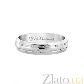 Кольцо из белого золота с топазами Путешествие к звездам 000029791