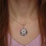 Серебряная подвеска Близнецы с родиевым покрытием