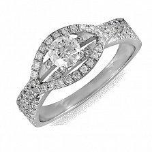 Кольцо из белого золота Хилари с бриллиантами