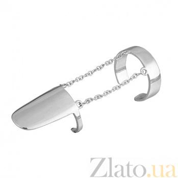 Серебряное кольцо-ноготь Модные штучки 000028004