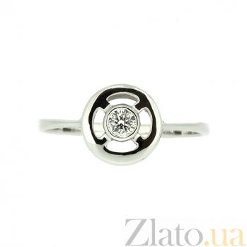 Кольцо из белого золота с бриллиантом Каприз ZMX--RD-5591w_K