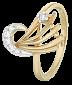 Серебряное кольцо с фианитами Милагрос 000025616