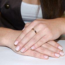 Золотое кольцо с бриллиантами Сияние счастья