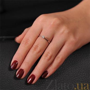 Кольцо из белого золота с бриллиантом Нежность чувств EDM--КД7525/1