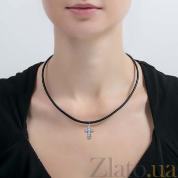 Серебряный крест Сила любви AQA-74004