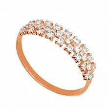Золотое кольцо Диана с цирконием