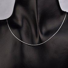 Серебряная цепочка Гаррана в плетении снейк с частой насечкой, 1мм