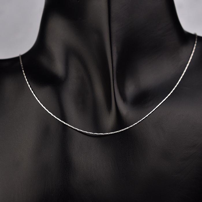 Серебряная цепочка Гаррана в плетении снейк с частой насечкой, 1мм 000104621