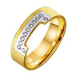 Золотое обручальное кольцо Триумфальная арка