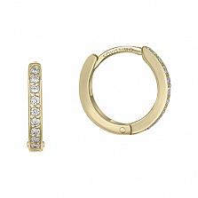 Серьги в желтом золоте Юная леди с бриллиантами