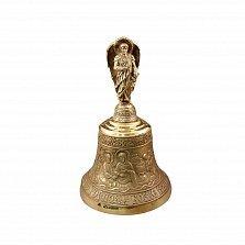 Большой бронзовый колокольчик Архангел Михаил с узорной поверхностью