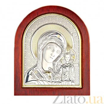 Икона позолоченная Казанской Богоматери 000015455