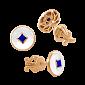 Серьги-пусеты с эмалью и сапфирами Solomia PRT--ERE77SР