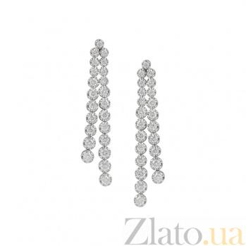 Серьги в белом золоте с бриллиантами Легенда 000026667
