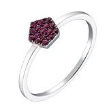 Золотое кольцо Пекталина с рубинами
