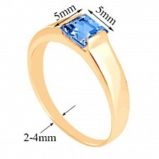 Золотое кольцо Аделина с топазом