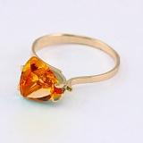Золотое кольцо с цитрином Сандра