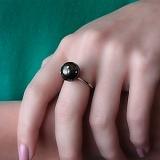 Золотое кольцо Созвездие с жемчугом и бриллиантами
