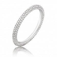 Золотое кольцо Адель в белом цвете с бриллиантами