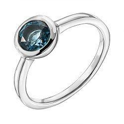 Серебряное кольцо с лондон топазом 000137260