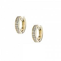 Серьги в желтом золоте Селена с бриллиантами