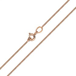 Цепочка из красного золота в плетении снейк 000134536