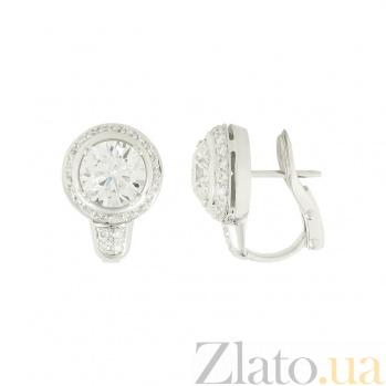Золотые серьги с бриллиантами Бренда 1С038-0050