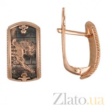 Серьги из красного золота Грифон VLT--Т2555